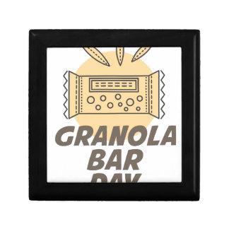 21st January - Granola Bar Day Jewelry Boxes