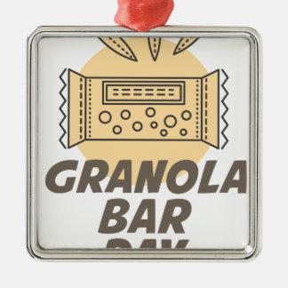 21st January - Granola Bar Day Metal Ornament