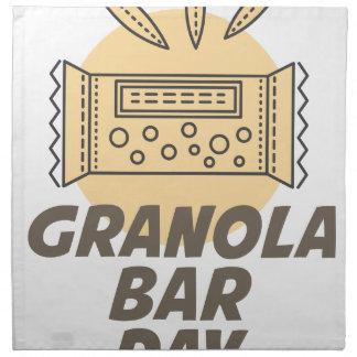 21st January - Granola Bar Day Napkin