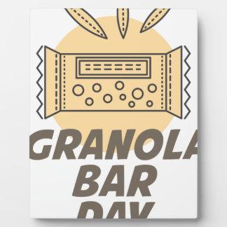 21st January - Granola Bar Day Photo Plaques