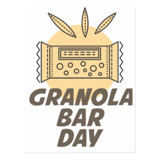 21st January - Granola Bar Day Postcard