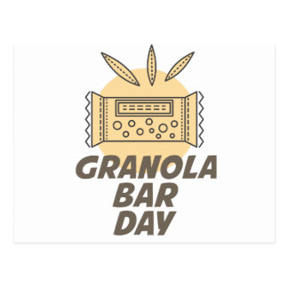 21st January - Granola Bar Day Postcard