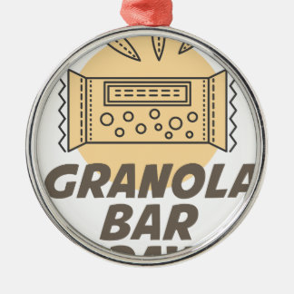 21st January - Granola Bar Day Silver-Colored Round Ornament