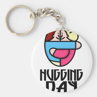 21st  January - Hugging Day - Appreciation Day Basic Round Button Keychain