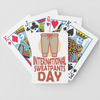 21st January - International Sweatpants Day Bicycle Playing Cards