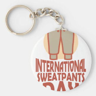 21st January - International Sweatpants Day Keychain