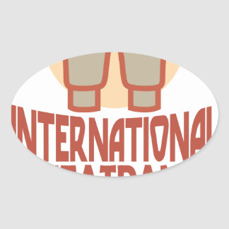 21st January - International Sweatpants Day Oval Sticker
