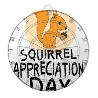 21st January - Squirrel Appreciation Day Dartboard