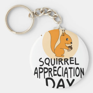 21st January - Squirrel Appreciation Day Keychain