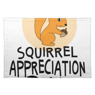 21st January - Squirrel Appreciation Day Placemat