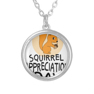 21st January - Squirrel Appreciation Day Silver Plated Necklace