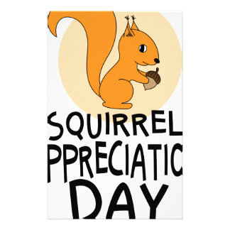 21st January - Squirrel Appreciation Day Stationery