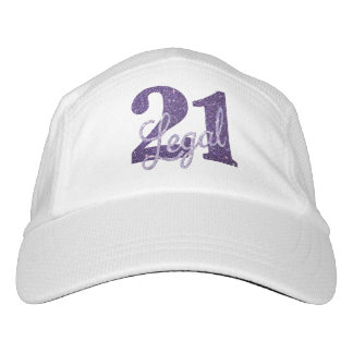 21st Purple | Custom 21 Legal Glitter with Name Hat