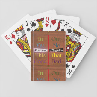 21st Quote; Positive Over Negative Playing Cards