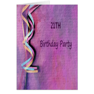 21th birthday party card