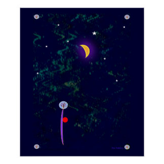 21x24 Poster- Abstract Night Scene Poster
