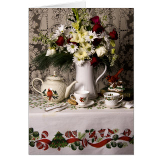2209 Teatime Floral Still Life Birthday Card