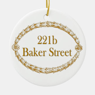 221b Baker Street Ceramic Ornament