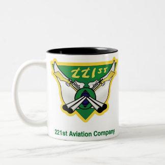 221st Aviation Company , VIETNAM1965-1966 Two-Tone Coffee Mug