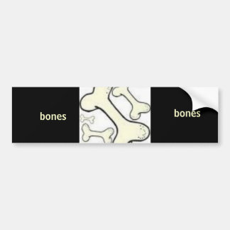222, bones, bones bumper sticker