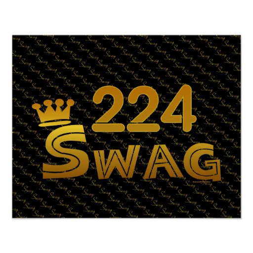 224 Area Code Swag Poster
