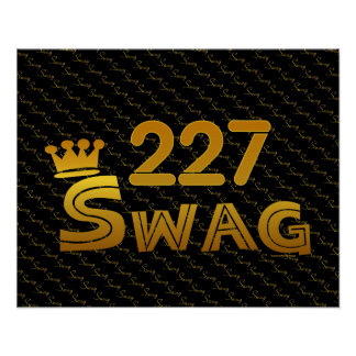227 Area Code Swag Poster