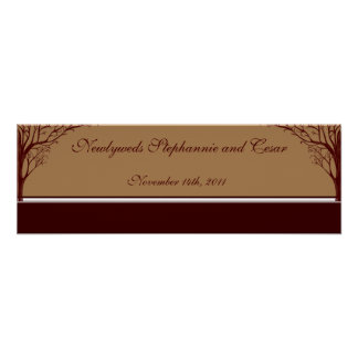 "22.5""x7.5"" Personalized Banner Autumn Tree Poster"