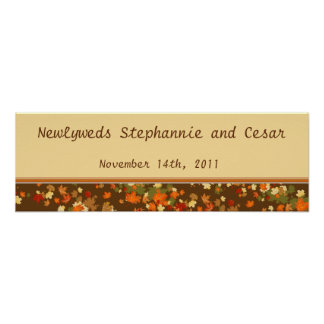 22 5 x7 5 Personalized Banner Foliage Branch Poster