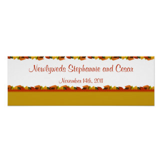 "22.5""x7.5"" Personalized Banner Foliage Leaves Poster"