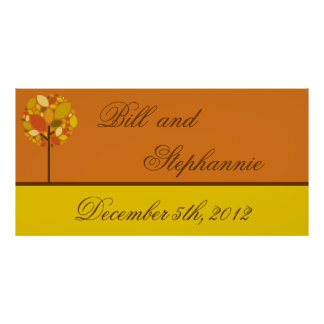 22 5 x7 5 Personalized Banner Modern Autumn Tree Poster