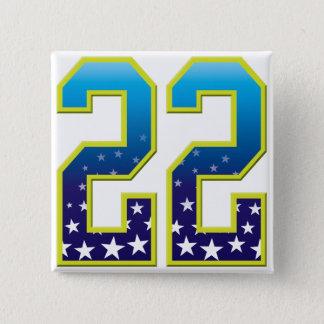 22 Age Star 2 Inch Square Button