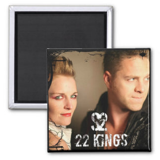 22 Kings Face Magnet