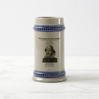 22 onces Stein, gris avec l'équilibre bleu Chope À Bière
