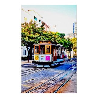 22 X 36 SAN FRANCISCO CABLE CAR PREMIUM POSTER
