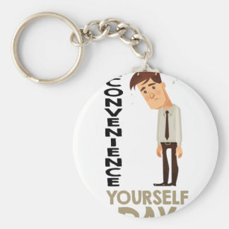 22nd February - Inconvenience Yourself Day Basic Round Button Keychain