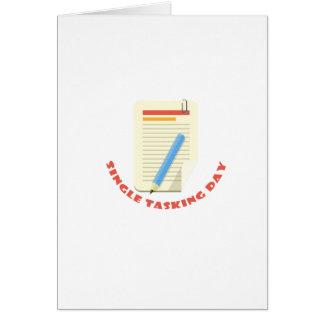 22nd February - Single Tasking Day Card