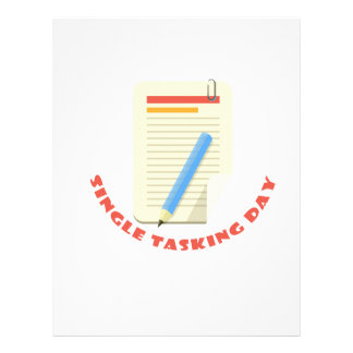 22nd February - Single Tasking Day Customized Letterhead
