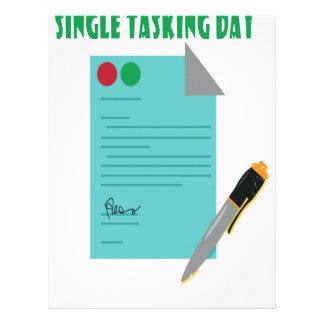 22nd February - Single Tasking Day Letterhead