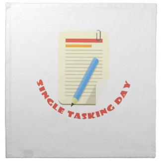 22nd February - Single Tasking Day Napkin