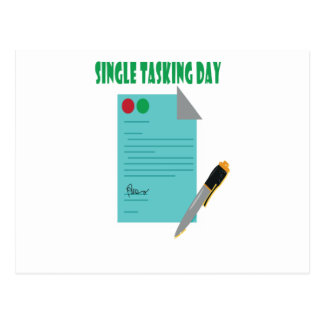 22nd February - Single Tasking Day Postcard