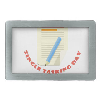 22nd February - Single Tasking Day Rectangular Belt Buckle