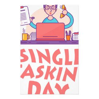 22nd February - Single Tasking Day Stationery