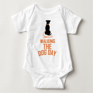 22nd February - Walking the Dog Day Baby Bodysuit
