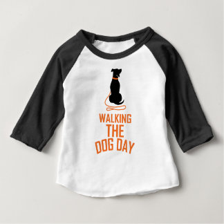 22nd February - Walking the Dog Day Baby T-Shirt