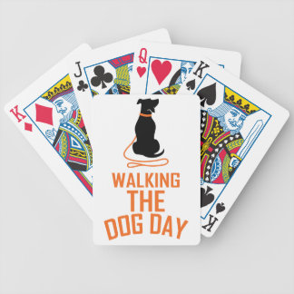 22nd February - Walking the Dog Day Bicycle Playing Cards
