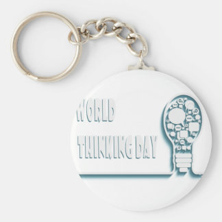 22nd February - World Thinking Day Basic Round Button Keychain