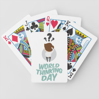 22nd February - World Thinking Day Bicycle Playing Cards