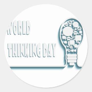 22nd February - World Thinking Day Classic Round Sticker