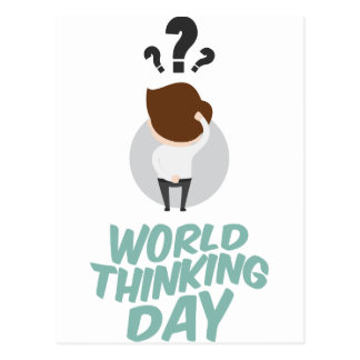 22nd February - World Thinking Day Postcard