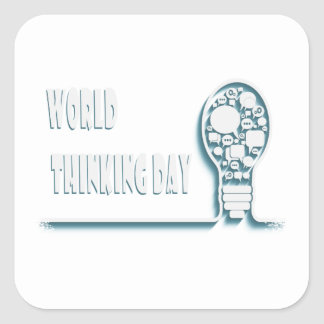 22nd February - World Thinking Day Square Sticker